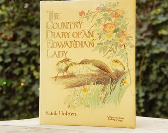 Vintage 70s Botanical Book Edith Holden The Country Diary Of An Edwardian Lady