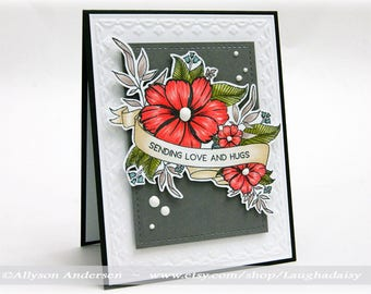 Sending Love and Hugs Greeting Card - MISC 006