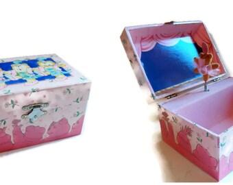 Vintage Child's Jewelry Box, Vintage Ballerina Bear Music Jewelry Box, Musicla Teddy Bear Jewelry Box 1991, Vintage Twirling Ballerina Bear