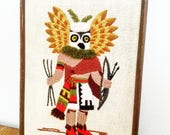 Vintage embroidered Stitched Tribal Wall Art Picture Frame