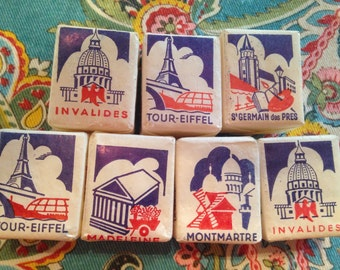 French France Vintage Sugar Cubes Advertising Souvenir Tourist