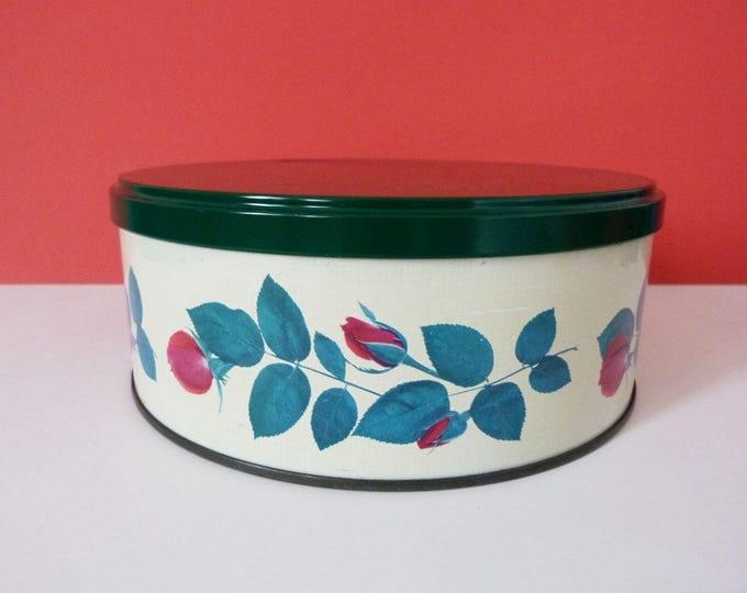 Cake Tin Vintage Flowery Tomado