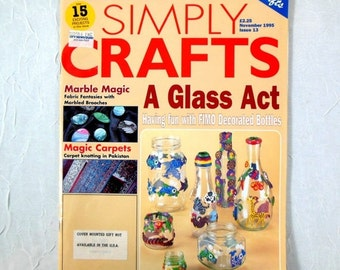 Holiday SALE Magazine Simply Crafts from Britain November 1995 Issue Marbling, Calligraphy, Fimo Clay