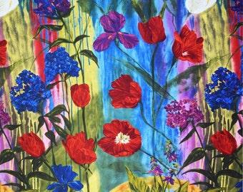 "Una's Garden ""Family"" from Frond Design Studios - 24"" x 44"" Garden Panel new from Brandenburg"