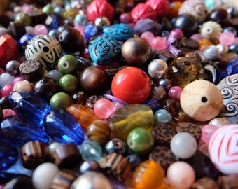 Bead Soup, Beads in Bulk, Random Assorted, wholesale, recycled, jewelry making