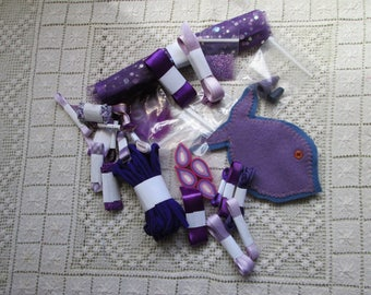 PURPLE Grab Bag with 8 bags of sewing notions (USA) or haberdashery (UK)