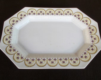 "Vintage Independence Ironstone-China Hexagonal 13"" Serving Platter"