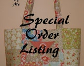 SPECIaL ORdER LISTING FoR  Kristy Taylor  Andrea Quilted Handbag, Purse, Bag, Tote Bag,  CUSTOM MADE by Quilted Creations By Me