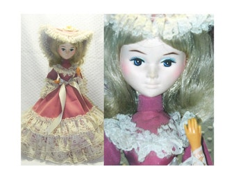 "Collectible Bradley Big Eyed Doll - 13"" Tall"