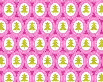 Treelicious - Jingle Bells in Pink - 1 yard - Blend Fabrics
