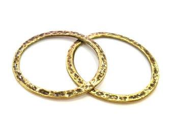 2 Circle Connector Antique Bronze (40mm) G7285