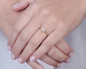 Delicate Engagement Ring, Pearl Diamond Ring, Engagement Ring, Diamond Engagement Ring, Pearl Wedding Ring, Diamond Ring, Bridal Ring