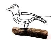 Reserved: Robin Wire Sculpture, Bird Wire Art, Minimal Art Design, 519372015