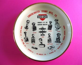 Cosco Consolidated Stamp MFG CO Decorative Dish Tray