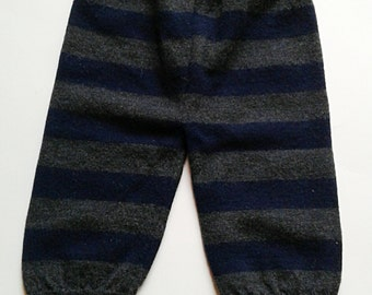 WOOL Longies - Size SMALL - 6-9 months - Wool Pants - Wool Diaper Cover - Wool Sweater Pants - Upcycled Wool Pants - Wool Baby Pants