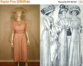 ANNIVERSARY SALE Young Ladies Out For Tea - 1910 Dusty Rose Pink Swiss Dot Day Dress w/Waist Cummerbund - XXS