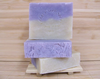 Evergreen Lavender Soap Evergreen Lavender Cold Processed Soap All Natural and Vegan Soap