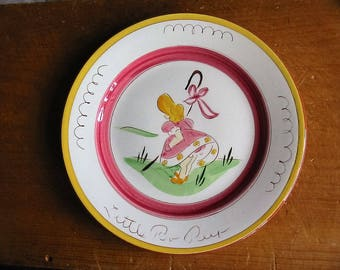 Vintage Stangl Pottery Kiddieware Plate Old Hand Painted Stangl Little Bo Peep Kiddieware 9 Inch Plate Vintage Little Bo Peep Nursery Dish