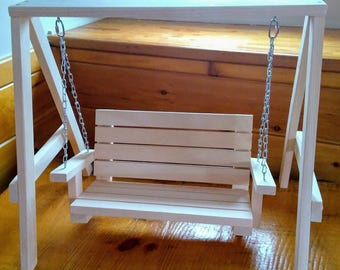 Handmade Bench Swing for 18  inch Doll