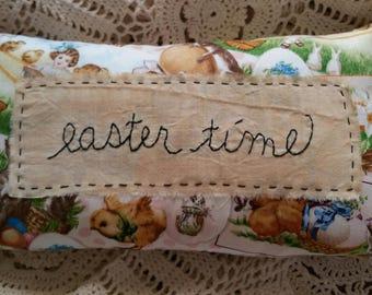 Prim Stitchery easter time Pillow ~OFG