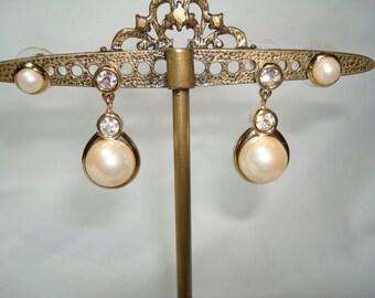 1994 Swarovski Pearl Like Earrings.