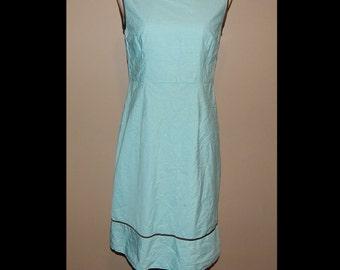 90s Eva Angelina Blue Plaid Checked Sleeveless Dress Bust 34