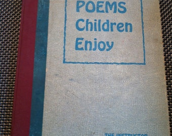 1952 ex library book Poems Children enjoy great old book hardcover
