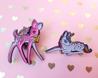 Ruby & Unicorn pin set + sticker sheet!