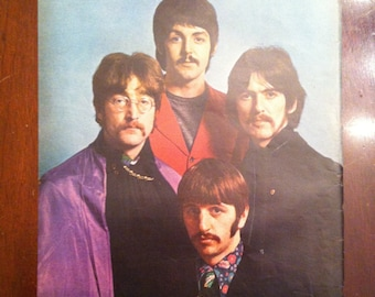 Original 1967 BEATLES full page LIFE MAGAZINE color photo