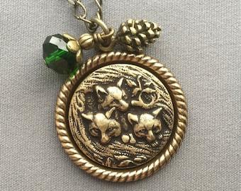 Fox Necklace - Fox Jewelry - Woodland Jewelry - Fox Pendant - Woodland Necklace - Nature Jewelry - Foxes - Animal Jewelry - Charm Necklace