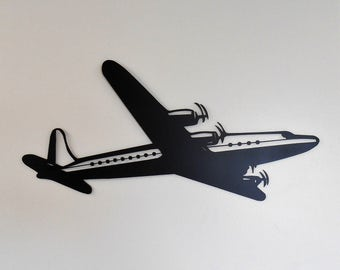 Airplane Metal Wall Decoration Vintage Passenger Art Deco
