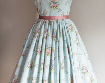 1950s Rose Dress