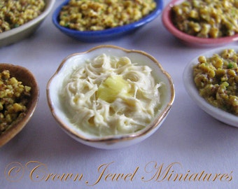 OOAK 1:12 Holiday Buttered Mashed Potatoes by IGMA Artisan Robin Brady-Boxwell - Crown Jewel Miniatures