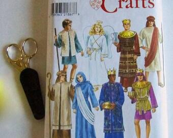 Christmas Pattern, Mary, Joseph, Three Kings, Angel, Shepherds, Simplicity 8275, Nativity Costumes, Size A XS-XL, Christmas Costumes, Crafts