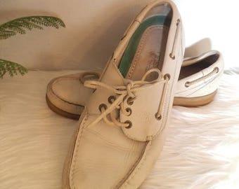 Vintage White Top-Siders ~ Men's Florsheim Outdoorsman Sperry Size 10