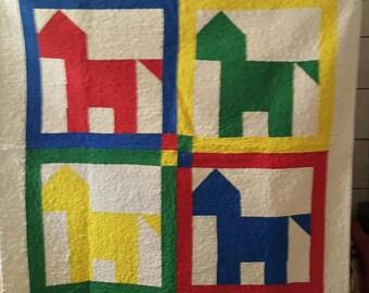 Horse baby quilt