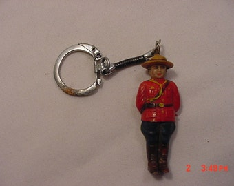 Vintage Canadian Mounted Police Mountie Keychain  16 - 719