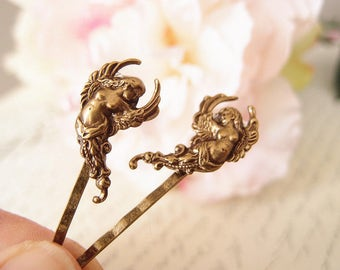 Winged Angel bobby pins-medieval-shabby chic-steampunk-Victorian V047