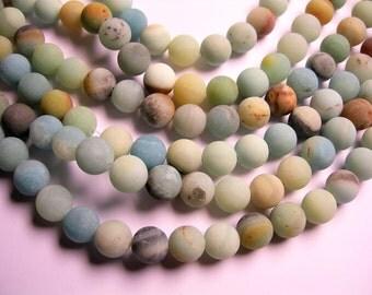 Amazonite - 12mm round beads -1 full strand - matte - 33 beads - RFG1212