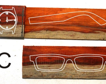 Customized handmade two tone rosewoo watches and  frames prescription glasses sunglasses TAKEMOTO