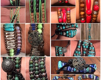Design your Own Custom Wrap Bracelet