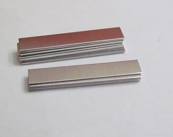 Aluminum rectangles -3/8 x 2 1/2 -  20 gauge - HEAVY DUTY - hand stamping blanks -metal blanks