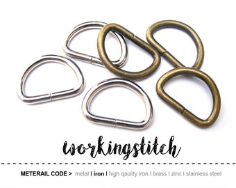 20pcs 22mm (inside) D-ring FOB Purse Hardware Finding for Purse Ring, Clasps Hook Ring