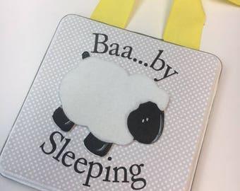 Baa....by Sleeping Lamb Nursery Door Hanger
