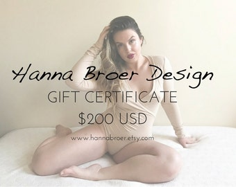 Gift Certificate - 200 USD