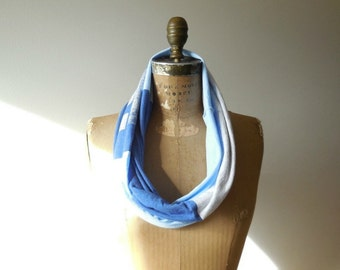 New York Giants T Shirt Infinity Scarf Women's Accessories Unisex Scarf Recycled Tee Scarf Football Scarf Handmade Scarf ohzie