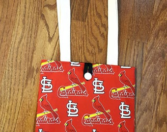 St. Louis Cardinals Bag Purse Tote Baseball Red White Black