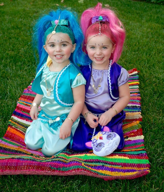 Shimmer And Shine Costume Halloween Dress Up Party Shine