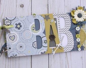 Baby boy scrapbook album, Baby shower gift, Baby shower guestbook, Premade scrapbook, new mom gift, gift for baby boy, baby boy photo album