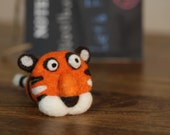 Orange Tiger,Needle Felted tiger . Animals. Gifts For Kids. Kids Gift. Felted Tiger . Miniature Animal. Felt Animals. Waldorf Toy. Ornament